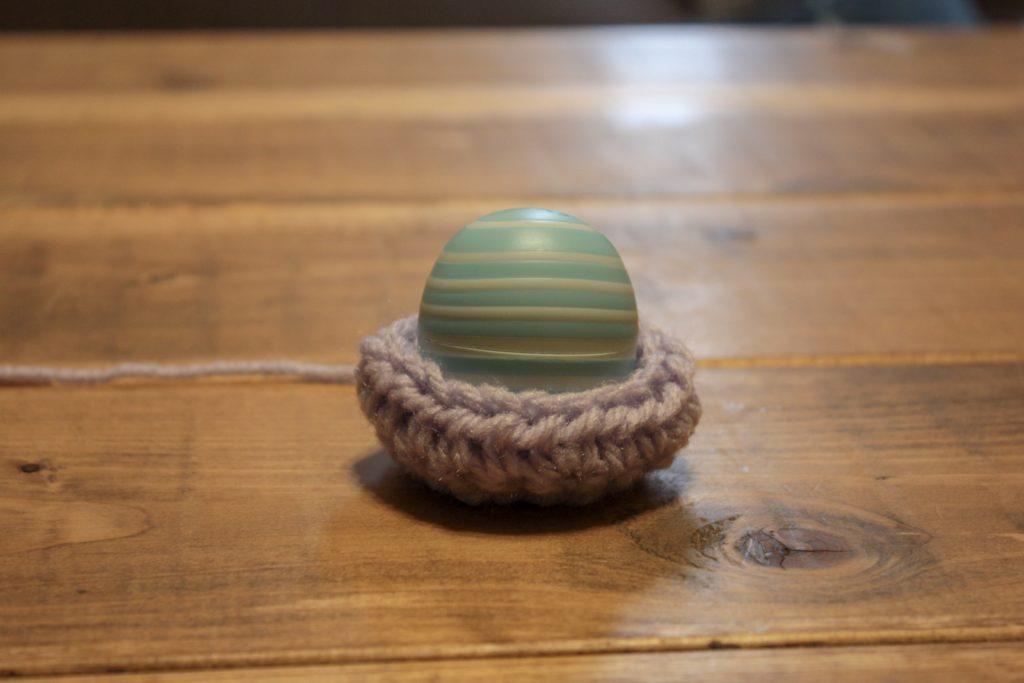 Eosリップバーム 毛糸でけーすを作った-コストコ